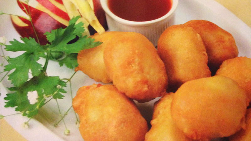 Chicken Ball with Sweet and Sour Sauces